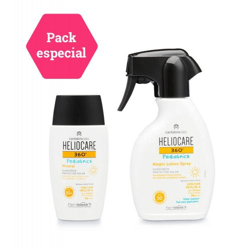 Heliocare - HELIOCARE 360º PACK Pediatrics Atopic Lotion Spray + Mineral SPF 50+ - Farmacia Sarasketa