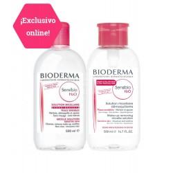 Bioderma - Bioderma Sensibio Agua Micelar H2O Duplo 500ml + PUMP 500ml - Farmacia Sarasketa