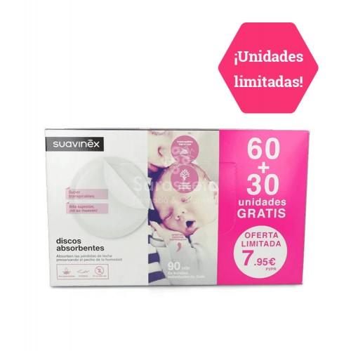 Suavinex - Suavinex Discos absorbentes 60 uds. + 30 uds. regalo - Farmacia Sarasketa