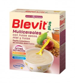 Ordesa - Blevit plus Multicereales con frutos secos, miel y frutas (600g) - Farmacia Sarasketa