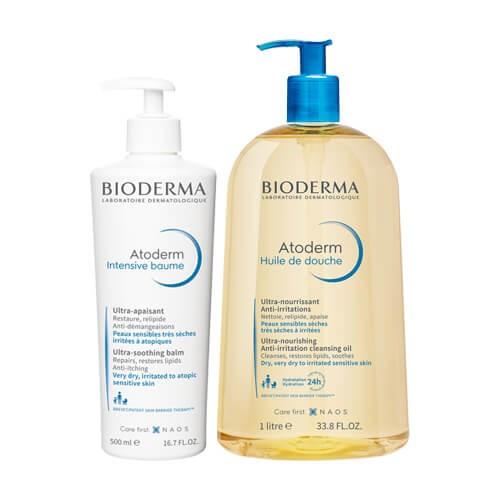 Bioderma - Bioderma Atoderm Intensive Baume 500ml + Aceite de ducha 1L - Farmacia Sarasketa