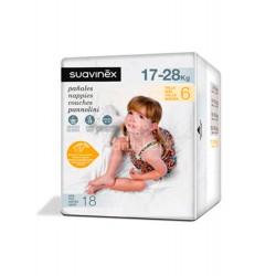 Suavinex - Suavinex Pañales talla 6 (17-28 kg) 18 uds - Farmacia Sarasketa