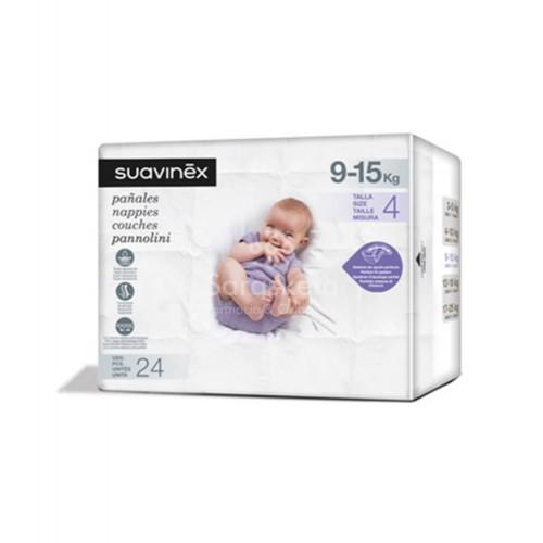 Suavinex - Suavinex Pañales talla 4 (9-15 kg) 24 uds - Farmacia Sarasketa