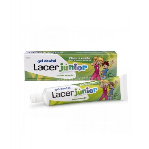 Lacer - Lacer junior Gel dental 6-12 años 75ml sabor menta - Farmacia Sarasketa