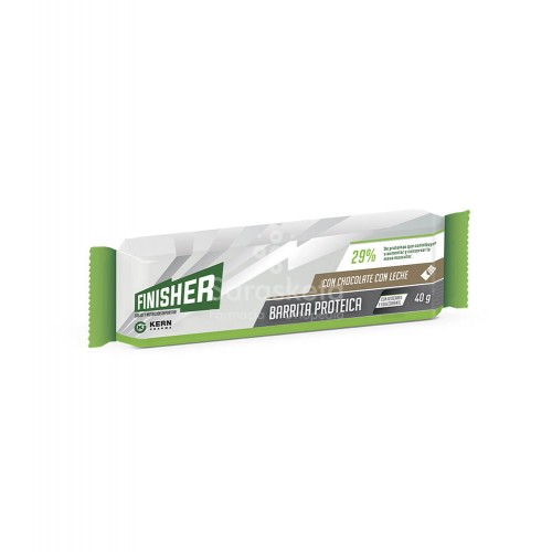 Finisher - Finisher barrita proteica sabor chocolate con leche - Farmacia Sarasketa