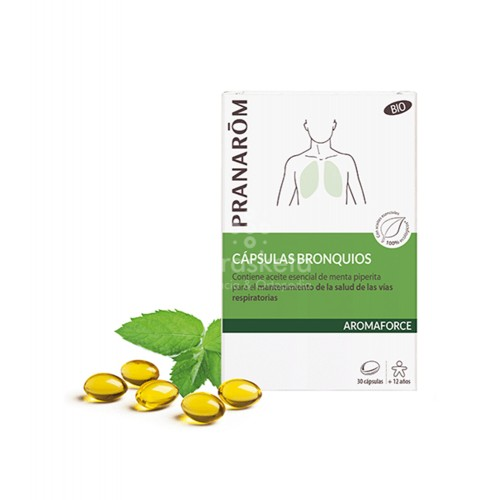 Pranarom - Pranarom Aromaforce bronquios BIO 30 cápsulas - Farmacia Sarasketa